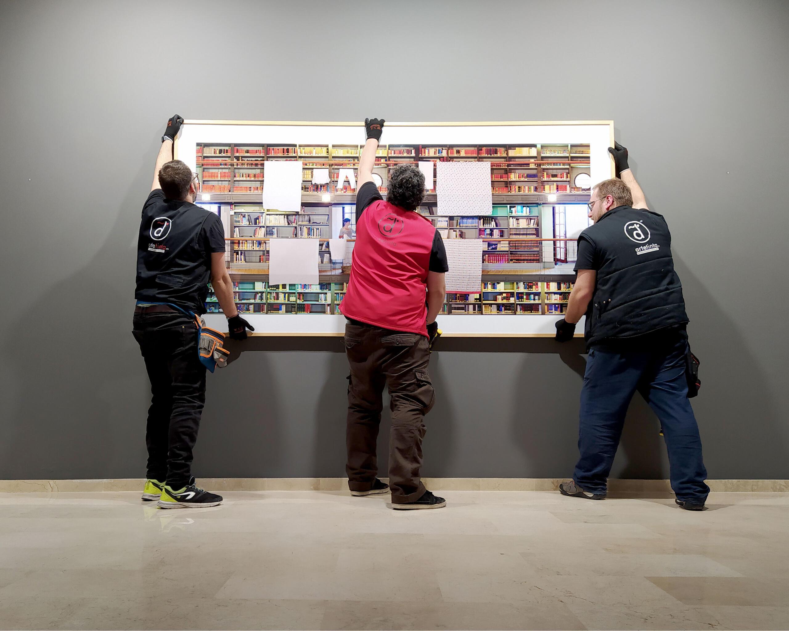 Fundación Antonio Pérez montaje de exposiciones